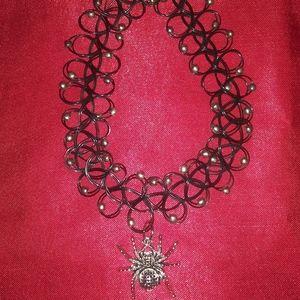 Halloween 🎃 Spider 🕷 Tattoo Choker Necklace
